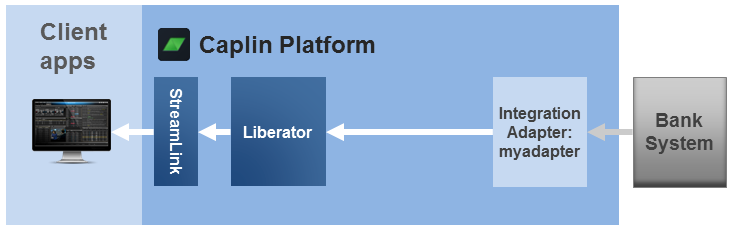 Diagram showing an Integration Adapter connected to Liberator only
