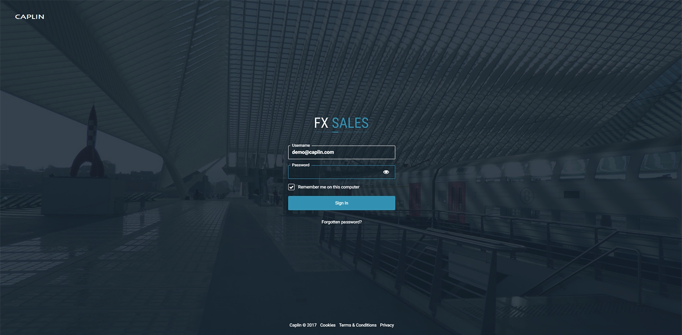 fx sales authentication login page