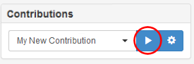 Sending a contribution using the Play button