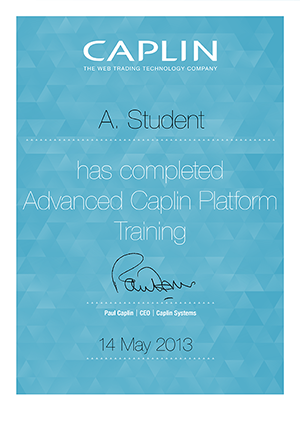 Example course completion certificate
